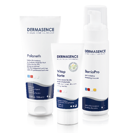 Polaneth Lotion, Vitop forte und BarrioPro Cleansing Foam