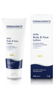 [Translate to Englisch:] Produktbild DERMASENCE AHA Effects Body & Face Lotion