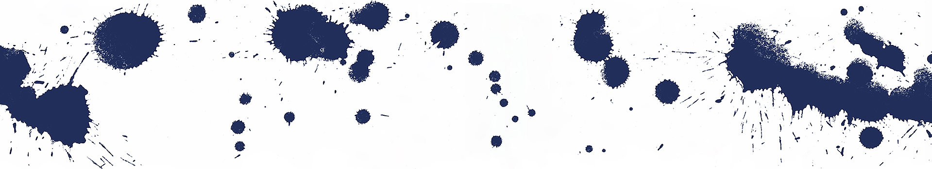 Blue color spots on white background
