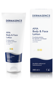 [Translate to Englisch:] Produktbild DERMASENCE AHA Body & Face Lotion